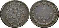 1/2 Kreuzer 1773 Pfalz, kurlinie Mannheim Karl Theodor, 1743-1799 ss  12,00 EUR  zzgl. 3,00 EUR Versand