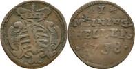 Heller 1738 Sachsen Meiningen Carl Friedrich, 1729-1743. ss  20,00 EUR  zzgl. 3,00 EUR Versand