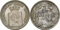 6 Kreuzer 1853 Hessen Darmstadt Ludwig III., 1848-1877 vz  20,00 EUR  zzgl. 3,00 EUR Versand