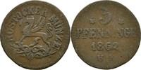 Pfennig 1862 Stadt Rostock  ss  12,00 EUR  zzgl. 3,00 EUR Versand