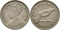 6 Pence 1936 Neuseeland George V., 1910-36 vz  30,00 EUR  zzgl. 3,00 EUR Versand