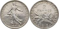 2 Francs 1917 Frankreich Säerin fast Stempelglanz  25,00 EUR  zzgl. 3,00 EUR Versand