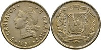 5 Centavos 1951 Dominikanische Republik  fast Stempelglanz  20,00 EUR  zzgl. 3,00 EUR Versand