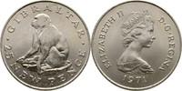 25 Pence 1971 Gibraltar Elisabeth II., 1952-heute fast Stempelglanz  7,00 EUR  zzgl. 3,00 EUR Versand