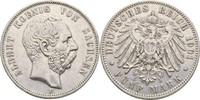 5 Mark 1901 Sachsen Albert, 1873-1902 kl. Kratzer, ss  55,00 EUR  zzgl. 3,00 EUR Versand