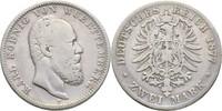 2 Mark 1877 Württemberg  f.ss  30,00 EUR  zzgl. 3,00 EUR Versand