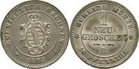 Neugroschen 1863 Sachsen Dresden Johann, 1854-1873 f. Stempelglanz  20,00 EUR  zzgl. 3,00 EUR Versand