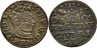 Dreigröscher Trojak 1583 Polen Lettland Riga Stephan Bathory, 1576-1586... 60,00 EUR  zzgl. 3,00 EUR Versand