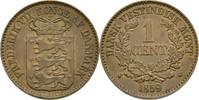 Cent 1859 Dänisch Westindien Frederik VII., 1848-1863 vz  90,00 EUR  zzgl. 3,00 EUR Versand