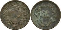 2 Rappen 1893 B Schweiz  ss Patina  5,00 EUR  zzgl. 3,00 EUR Versand
