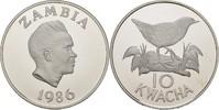 10 Kwacha 1986 Sambia 25 Jahre WWF - Spiegelralle PP offen, minimale Ko... 20,00 EUR  zzgl. 3,00 EUR Versand
