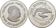 2 Paanga 1986 Tonga 25 Jahre WWF - Buckelwale PP offen, minimale Kontak... 27,00 EUR  zzgl. 3,00 EUR Versand