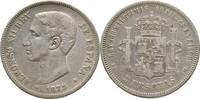 5 Pesetas 1875 Spanien Alfonso XII. (1874 - 1885) ss  25,00 EUR  zzgl. 3,00 EUR Versand