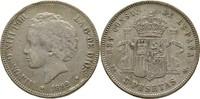 5 Pesetas 1892 Spanien Alfonso XIII. kl. Randfehler, Kratzer, ss  30,00 EUR  zzgl. 3,00 EUR Versand