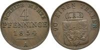 4 Pfennige 1854 Preussen Berlin Friedrich Wilhelm IV., 1840-1861 vz  25,00 EUR  zzgl. 3,00 EUR Versand