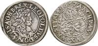 3 Kreuzer 1667 RDR Steiermark Graz Leopold I., 1657-1705 vz/fvz  45,00 EUR  zzgl. 3,00 EUR Versand