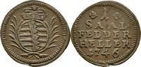 Heller 1746 Sachsen Coburg Saalfeld Franz Josias, 1745-1764 ss+  55,00 EUR  zzgl. 3,00 EUR Versand