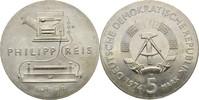 5 Mark 1974 DDR Berlin Philipp Reis kl. Verschmutzungen, prfr  10,00 EUR  zzgl. 3,00 EUR Versand