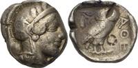 Tetradrachme 454-404 Attika Athen  Prüfhieb, Gegenstempel, ss  350,00 EUR kostenloser Versand