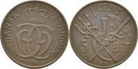 1 Cent (5 Bit) 1905 Dänisch Westindien Christian IX., 1863-1906 ss  30,00 EUR  zzgl. 3,00 EUR Versand
