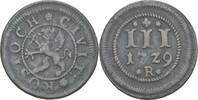 3 Pfennig 1729 Rostock  ss  25,00 EUR  zzgl. 3,00 EUR Versand