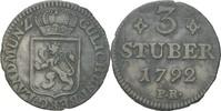 3 Stüber 1792 Jülich Kleve Berg Karl Theodor, 1742-1799 ss  15,00 EUR  zzgl. 3,00 EUR Versand