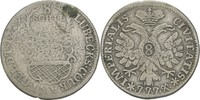 8 Schilling 1729 Lübeck, Stadt  fast ss  20,00 EUR  zzgl. 3,00 EUR Versand