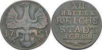 XII Heller 1791 Aachen, Stadt  ss  20,00 EUR  zzgl. 3,00 EUR Versand