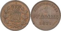 Pfennig 1871 Bayern München Ludwig II.,1864-1886 winziger Randfehler, vz  10,00 EUR  zzgl. 3,00 EUR Versand
