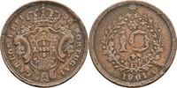 10 Reis 1901 Port. Azoren Carlos I., 1889-1908 fast ss  15,00 EUR  zzgl. 3,00 EUR Versand
