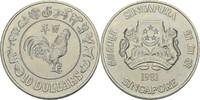 10 Dollars 1981 Singapur Jahr des Hahns fast Stempelglanz  25,00 EUR  zzgl. 3,00 EUR Versand