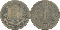 1 Rigsmont Skilling 1856 Dänemark Frederik VII., 1848-63 ss  8,00 EUR  zzgl. 3,00 EUR Versand