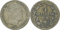 4 Skilling 1856 Dänemark Frederik VII., 1848-63 fast ss  7,00 EUR  zzgl. 3,00 EUR Versand