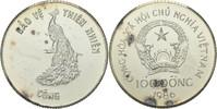 100 Dong 1986 Nord Vietnam Pfau fast Stempelglanz, fleckig  30,00 EUR  zzgl. 3,00 EUR Versand