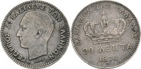 20 Lepta 1874 Griechenland FSK2 George I., 1863-1913 kl. Randfehler, ss-  15,00 EUR  zzgl. 3,00 EUR Versand