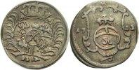 Pfennig 1702 Sachsen Friedrich August I., 1694 - 1733 minimaler Bug, ss+  35,00 EUR