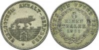 Anhalt K&ouml;then 1/6 Taler  1861 f.vz Alexander Carl, 1831 - 1863 35,00 EUR 