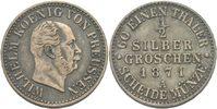 1/2 Silbergroschen 1871 Preussen Berlin Wilhelm I., 1861 - 1888. ss  9,00 EUR  zzgl. 3,00 EUR Versand
