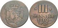 3 Pfennige 1819 Waldeck Pyrmont Georg Heinrich, 1813 - 1845. ss/f.ss  20,00 EUR  zzgl. 3,00 EUR Versand