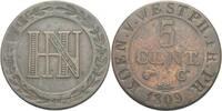 5 Cent 1809 Westfalen Hieronymus Napoleon, 1807 - 1813. ss  20,00 EUR  zzgl. 3,00 EUR Versand