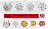 Kursmünzensatz   - 1986 stgl in Originalverpackung Münzzeichen F, Nomin... 55,00 EUR  zzgl. 3,90 EUR Versand
