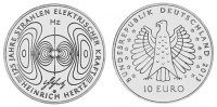 10 Germany - 10 Euro commemorative coin 125th rays of electric force - Heinrich ...