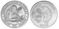 10 Dollars 2002  Somalia   - Schimpanse 2002 unc Silber Stempelglanz  69,00 EUR  zzgl. 3,90 EUR Versand