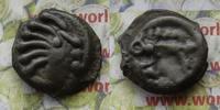 Potin  Kelten Senones Kopf n.r. 6 Strähnen / Eber steht n.r. ohne Kugel... 55,00 EUR  zzgl. 5,00 EUR Versand