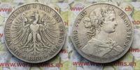 Vereisnstaler 1860 Deutschland Freie Stadt Frankfurt ss  45,00 EUR  zzgl. 5,00 EUR Versand