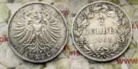 1/2 Gulden 1862 Deutschland Frankfurt Stadt, Kleine Schrötlingsfehler a... 360,00 EUR  zzgl. 5,00 EUR Versand