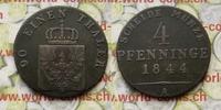 4 Pfennig 1844 A Deutschland Königreich Preußen, Friedrich Wilhelm IV. ... 180,00 EUR  zzgl. 5,00 EUR Versand