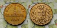 1/2 Kreuzer 1863 Deutschland Württemberg Charles I. 1864 - 1891 ss-vz  9,00 EUR  zzgl. 5,00 EUR Versand