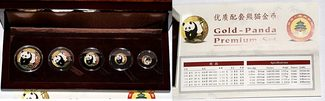 Yuan 2001 China Gold-Panda Premium Set 200...