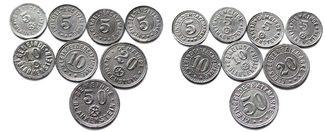 Notgeld o.J. Blankenheim 5 bis 50 Pfennig ...